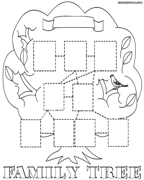 coloring page for family tree family tree coloring pages coloring pages to download
