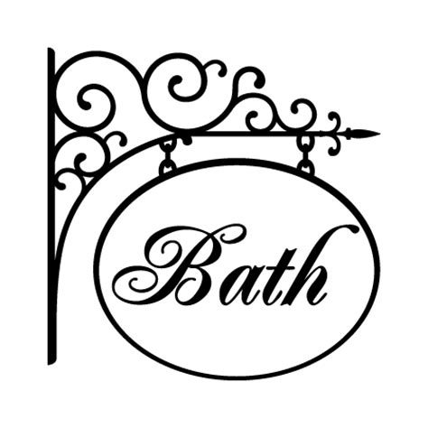 hanging bath sign wall quotes decal wallquotes