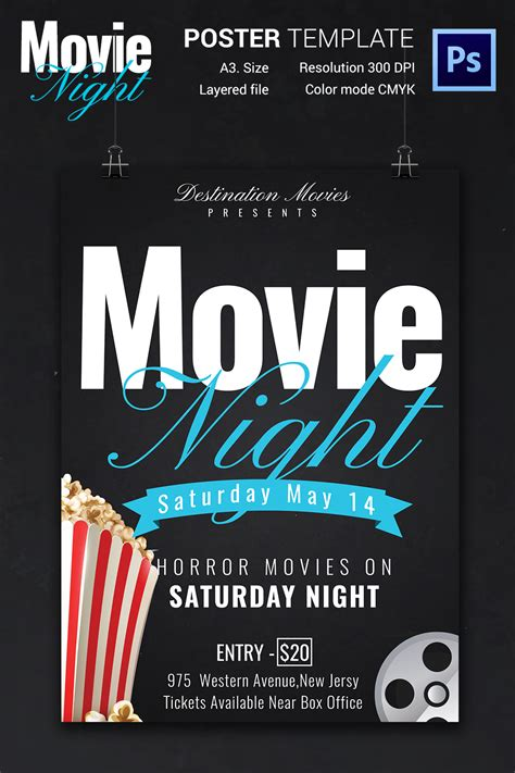 printable posters download movie night flyer template 25 free jpg psd format
