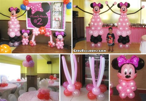 Minnie Mouse Balloon Decoration by Minnie Mouse Balloon Pillars At S Place