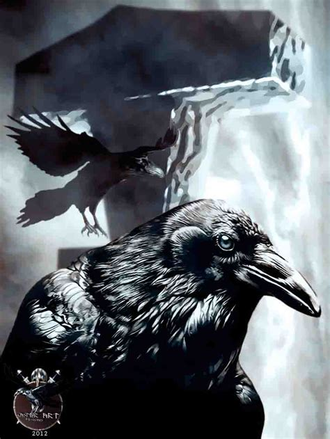 ravens with thor s hammer by thecasperart on deviantart