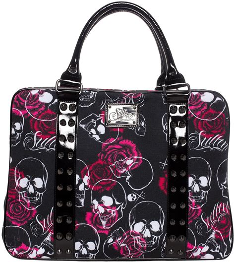 Handbag Skull by Sullen Clothing Skull Handbag Purse Black White And