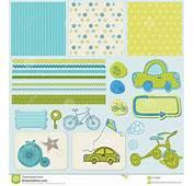 A Bicicleta E O Carro Projetam Elementos Para Scrapbook