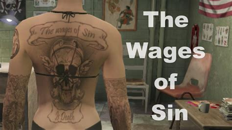 tattoo gta v online gta 5 online the wages of sin tattoo youtube