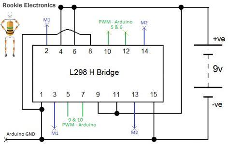 l298n circuit diagram basic programmed robot rookie electronics electronics