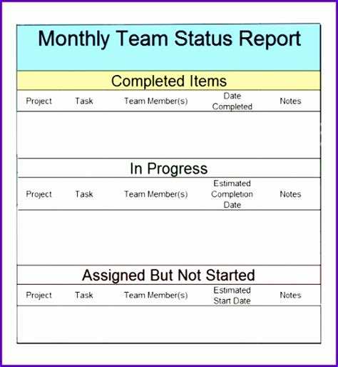 team progress report template 12 weekly report template excel exceltemplates