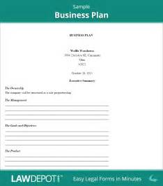 Business Plan Template For Existing Business by Business Plan Template Write Your Free Business