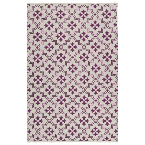 purple throw rug shop kaleen brisa purple rectangular indoor outdoor handcrafted coastal throw rug common 2 x 3