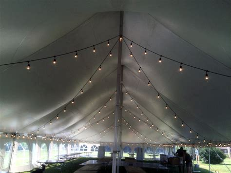Wedding Reception Tent For 160 Guests Dance Flooring Tent String Lights