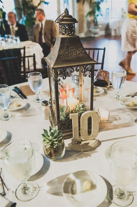 lantern centerpieces rainy day wedding nick in st augustine the oc