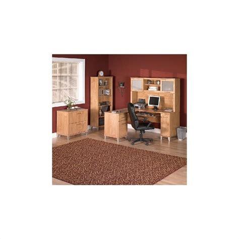 70 Inch Desk by Bush Somerset Hutch For 70 Inch L Desk In Maple Cross