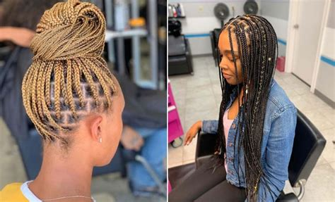 Simple Styles For Box Braids