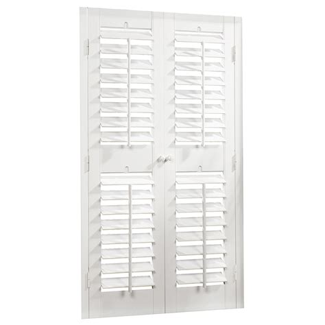 wooden shutters interior home depot shop allen roth 35 in to 37 in w x 60 in l plantation