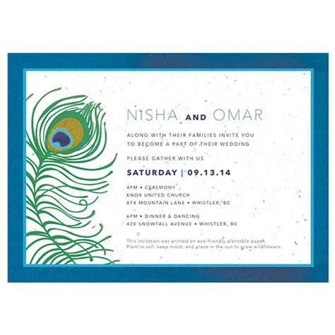 wildflower wedding invitation kits plantable peacock wedding invitations plantable wedding