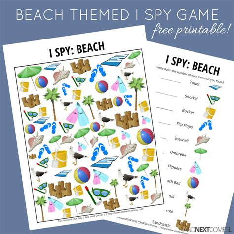 school themed games beach themed i spy game free printable for kids and