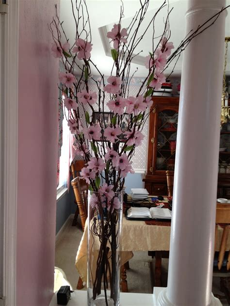 dyi cherry blossom centerpiece total cost 35 00 vase