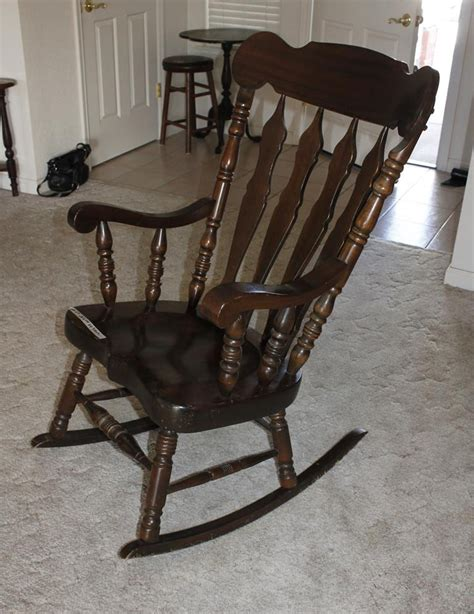 Large Wooden Chair by Norcal Auctions Estate Sales Lot 23