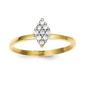 10k yellow gold cz promise ring qg10c1176