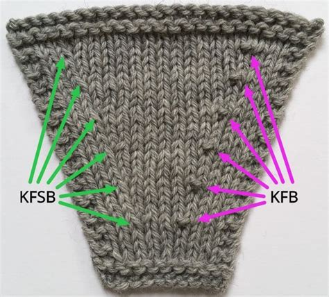 how to knit kfb stitch knit front slip back