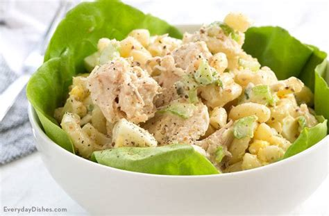 best macaroni and tuna salad recipe tuna macaroni salad recipe in 4 simple steps everyday dishes