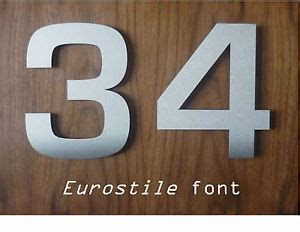 large house numbers large brushed stainless steel house numbers numerals fast free delivery ebay