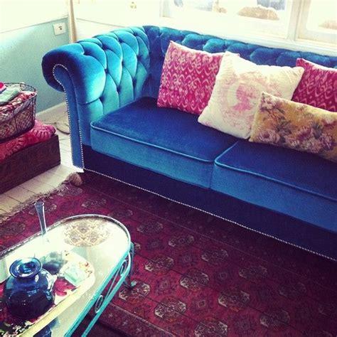 New Couch Turquoise Velvet Chesterfield Love It Turquoise Velvet Sofa