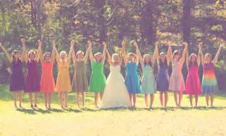 colorful wedding all for weddings colorful bridesmaids for a rainbow wedding