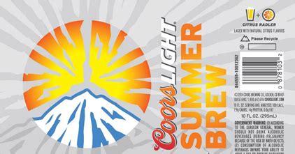 coors light summer brew 2017 coors light summer brew citrus radler mybeerbuzz com