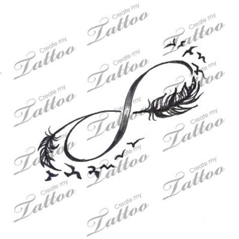 infinity tattoo design your own bird tattoos tattoo designs and infinity on pinterest