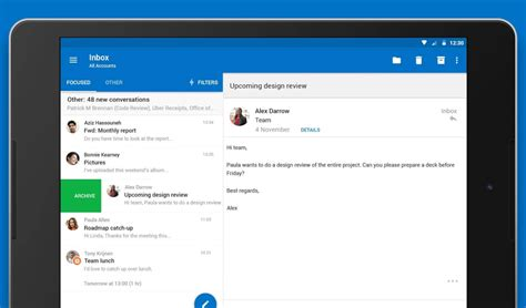 outlook app for android outlook for android gets better support for drive and other useful improvements