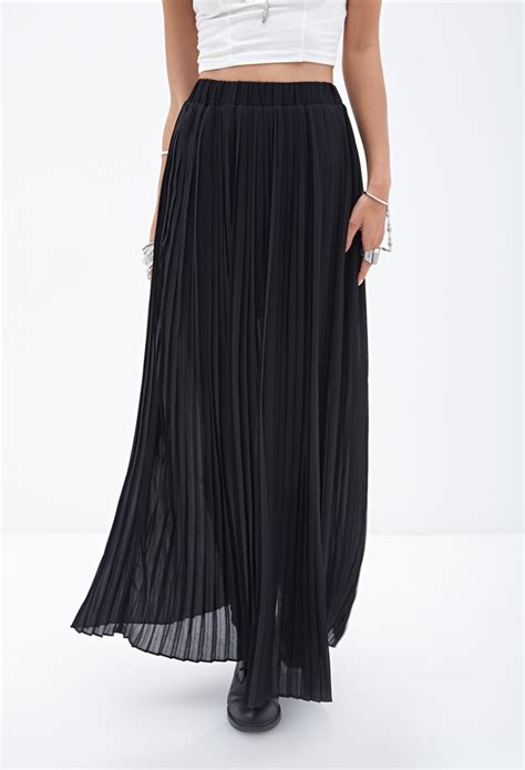 Maxi Black black maxi pleated skirt dress