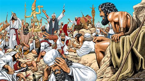 The Prophets Of Baal the bible illustration elijah vs the prophets of baal