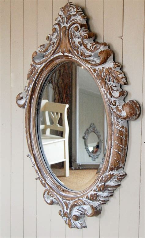 oval shabby chic mirror shabby chic wooden ornate oval mirror