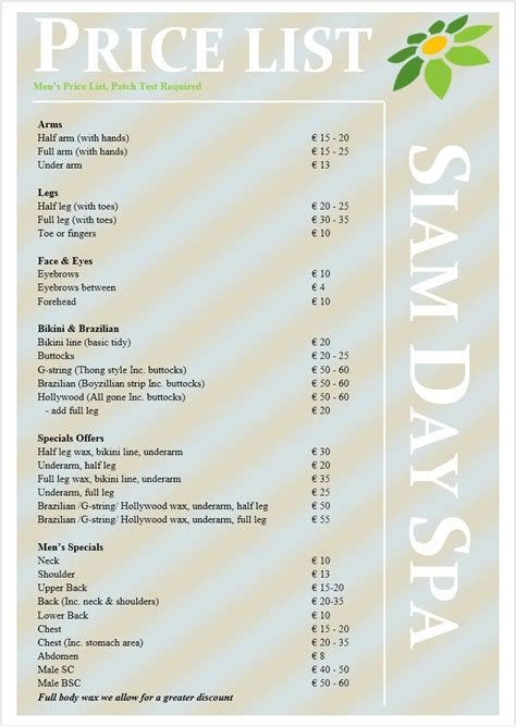 regis salon price menu regis hair price list regis salon price menu