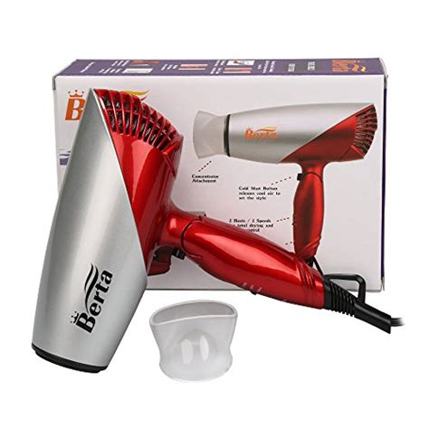 Hair Dryer Motor Voltage berta folding dryer 1875w negative ion hair dryer
