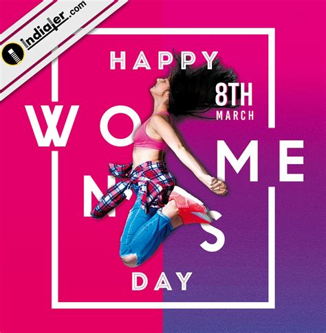 happy womens day  card  psd indiater