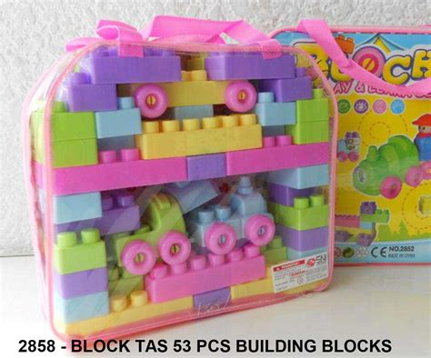 Building Blocks Tas block tas 53 pcs building blocks mainan anak