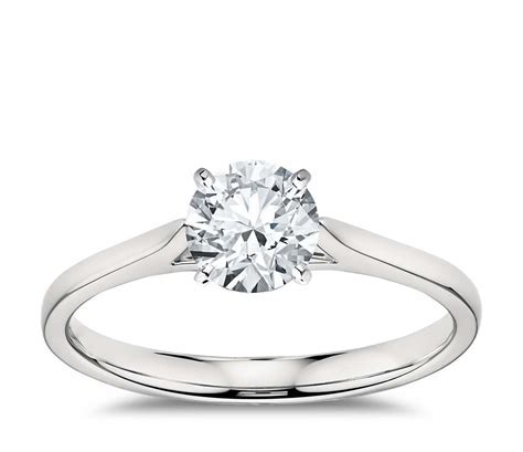 Petite Cathedral Solitaire in Platinum   Blue Nile