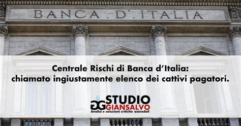 d italia elenco banche centrale rischi di d italia chiamato ingiustamente