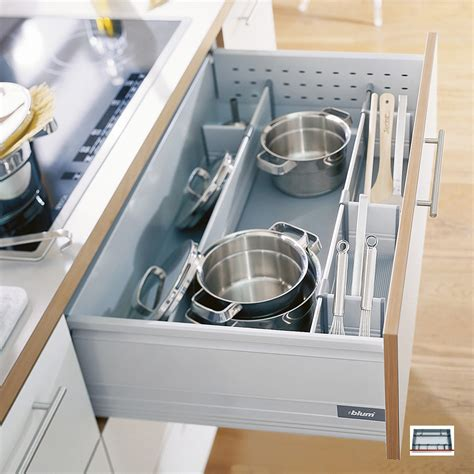 Blum Drawer Dividers by Pan Set 163 60 Blum Pan Dividers Provide Safe Storage For