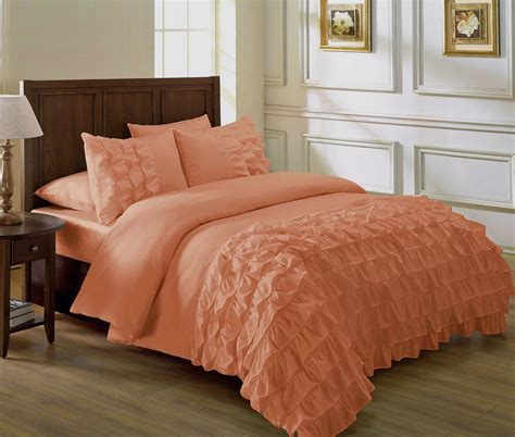 peach colored comforters bedding sets