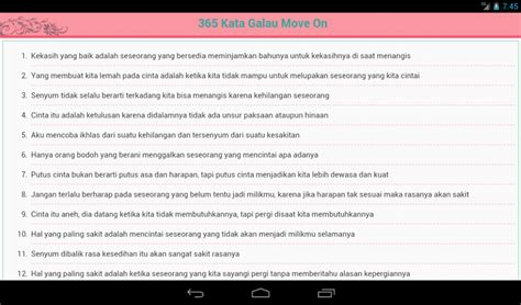 365 kata galau move on android apps on play