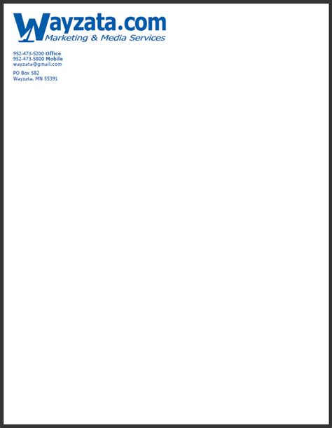 Business Letterhead Exle business letter format on letterhead 28 images 6