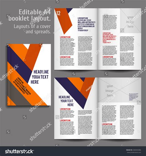 booklet layout design download a4 book geometric abstract layout design stock vector