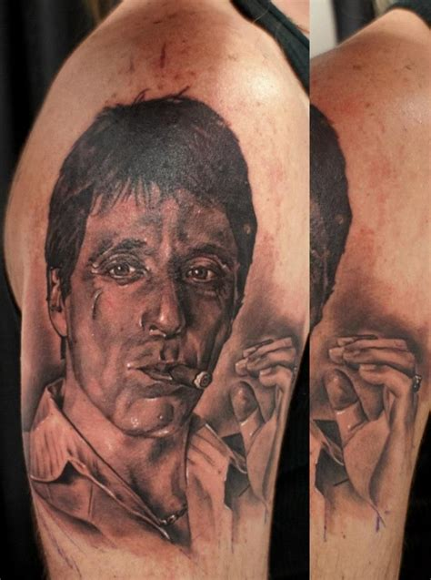 scarface tattoos scarface al pacino realistic tattoos