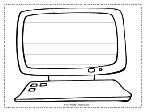 Computer Screen Template computer writing template writing template