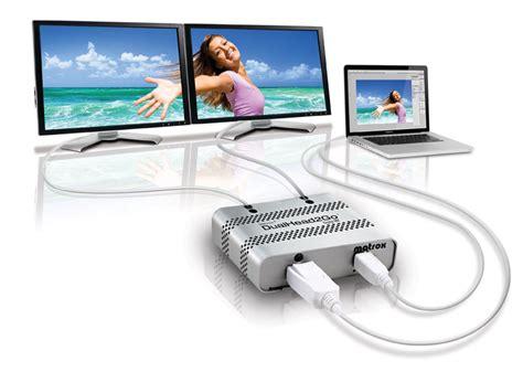 Power Desk Pro Matrox Dualhead2go Digital Me Multi Monitors For Laptops