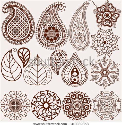 henna design leaves henna tattoo stock vektorgrafiken clip art