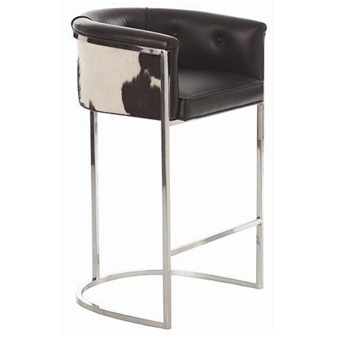 what height bar stool do i need arteriors home 2750 calvin leather hide polished nickel