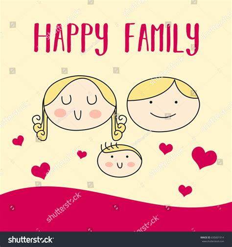 happy family cards templates happy family day suitable banner poster stock vector